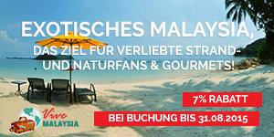 Exotisches Malaysia, das Ziel für verliebte Strand- und Naturfans & Gourmets!