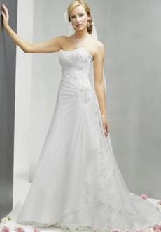 Bonmarier - Vestido largo de corte princesa, fruncido lateral, escote banera palabra de honor