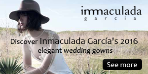 Discover Inmaculada García's 2016 elegant wedding gowns / Haute Couture Wedding Gowns Made in Barcelona